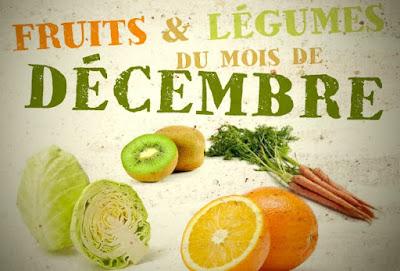 Quels fruits et légumes de saison en décembre ?