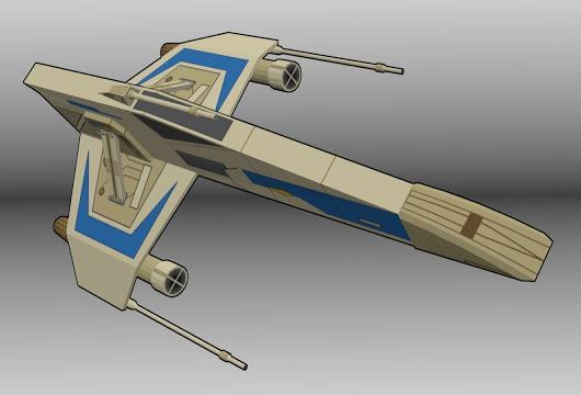 PAPERMAU: Star Wars - New Republic E-Wing Paper Model - by
