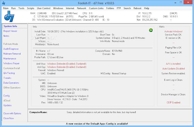 تحميل برنامج صيانة الكمبيوتر Download D7