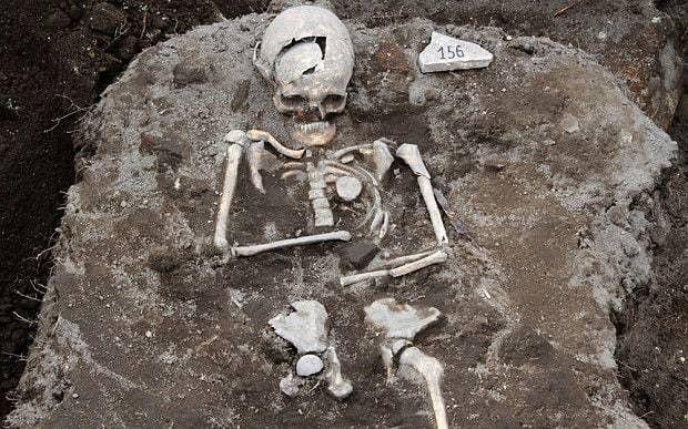 Grave of the Vampire in Drawsko, Poland