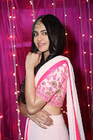 Adaa Sharma in White Pink Saree at Zee Telugu Apsara Awards 2017 06.JPG