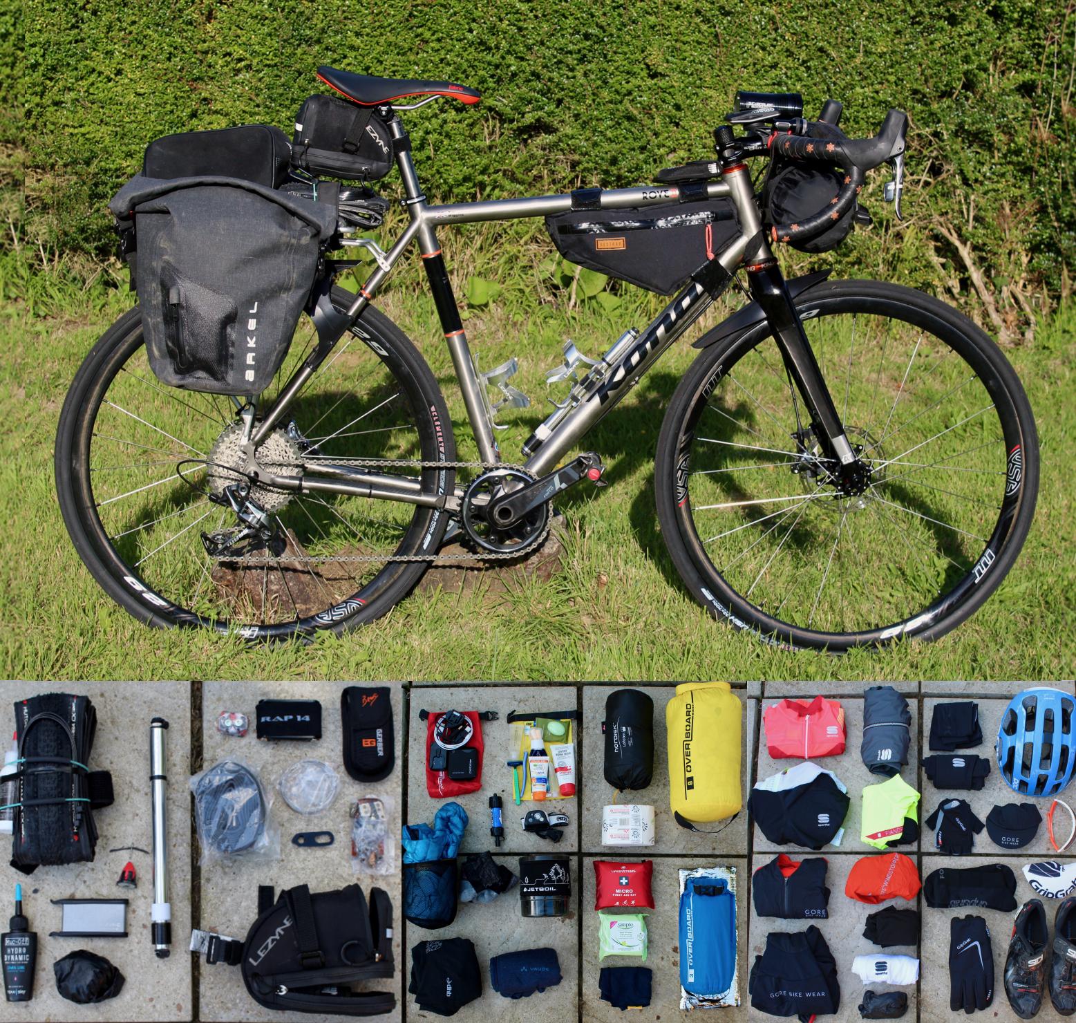 Bikepacking Kit Layout