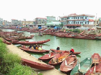 Ben Duc Boat Harbor, Hanoi, Vietnam
