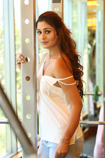 Payal Rajput in White Sleevless Top stunning Pics