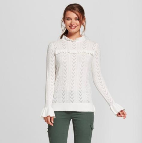 Target Ruffle Sweater