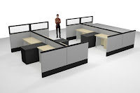 Sekat Partisi Kantor Bongkar Pasang - Modular Office Divider
