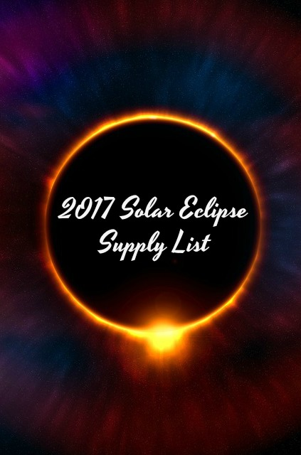 2017 Solar Eclipse Supply List