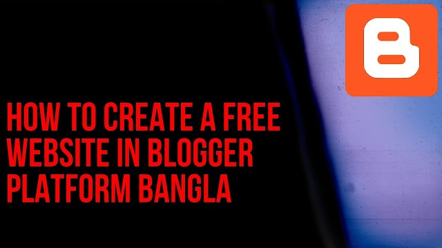 Create a free website on blogger
