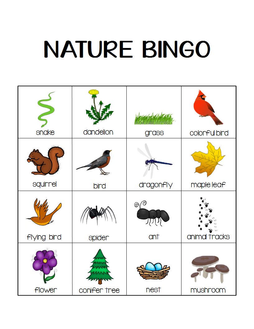 Nature Bingo Printable Activity - Take a Hike with your ...