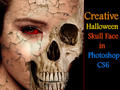 Halloween Skull Face in Photoshop CS6 Tutorial