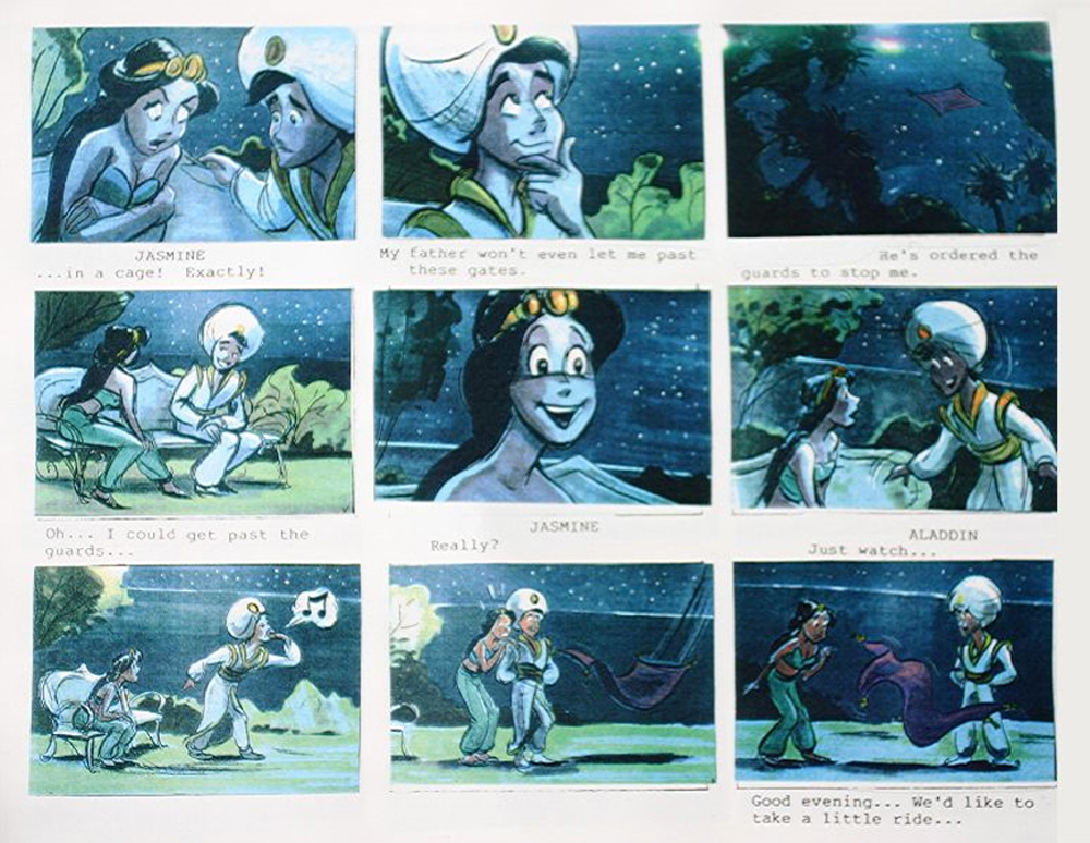 Living Lines Library Aladdin 1992 Storyboards