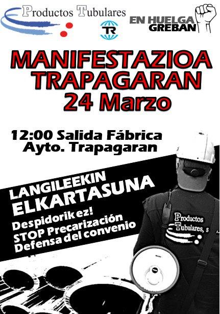 manifestación trabajadores de Productos Tubulares