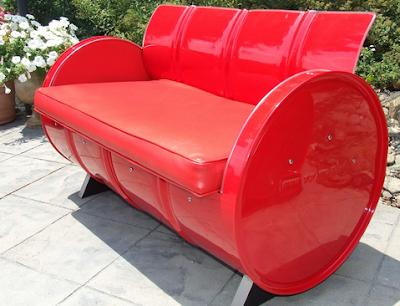 kursi unik dari drum bekas