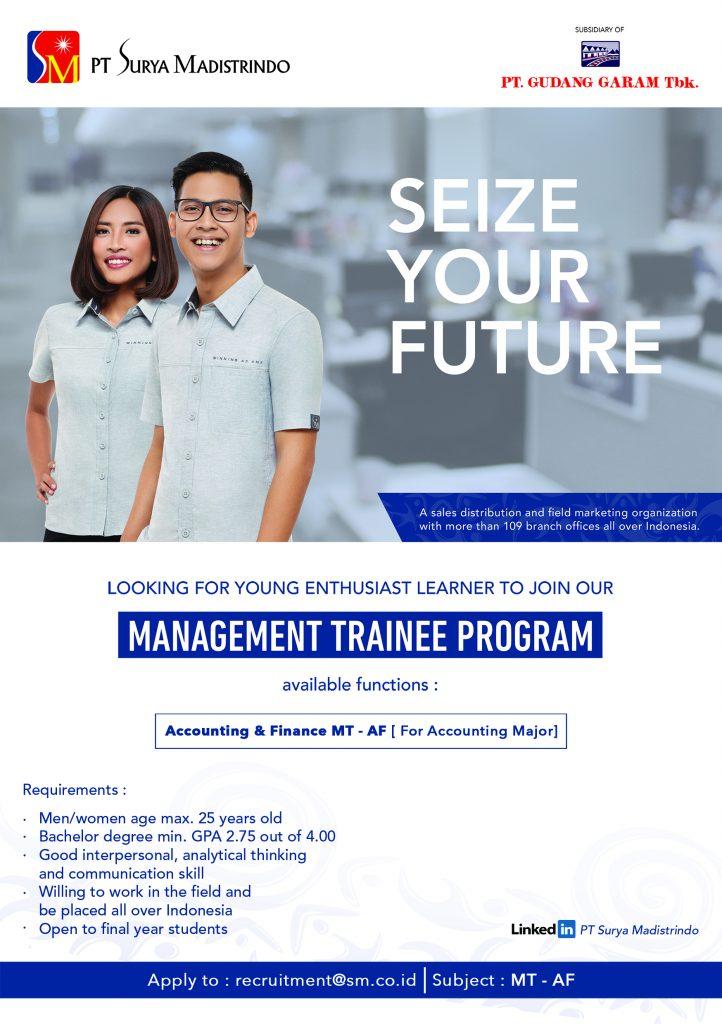 Info Tentang Lowongan PT Surya Madistrindo Management Trainee (MT)