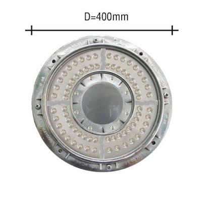 đèn led âm nước 72w inox