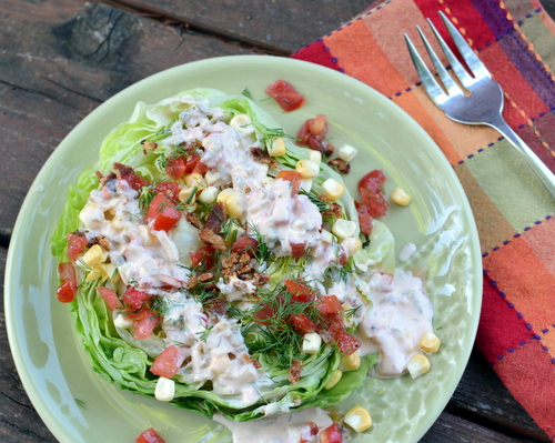 Loaded Iceberg Steaks with Homemade Thousand Island Dressing, another 'Summer Easy' salad idea ♥ A Veggie Venture