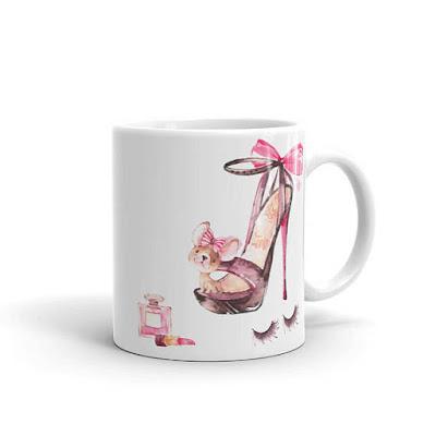 french designer coffee chihuahua mug