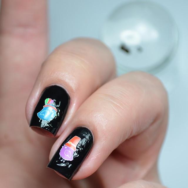 black peel off nail polish
