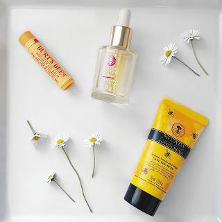 Manuka Doctor Replenishing Facial Oil, Neal's Yard Bee Lovely Hand Cream, Burt's Bees Lip balm