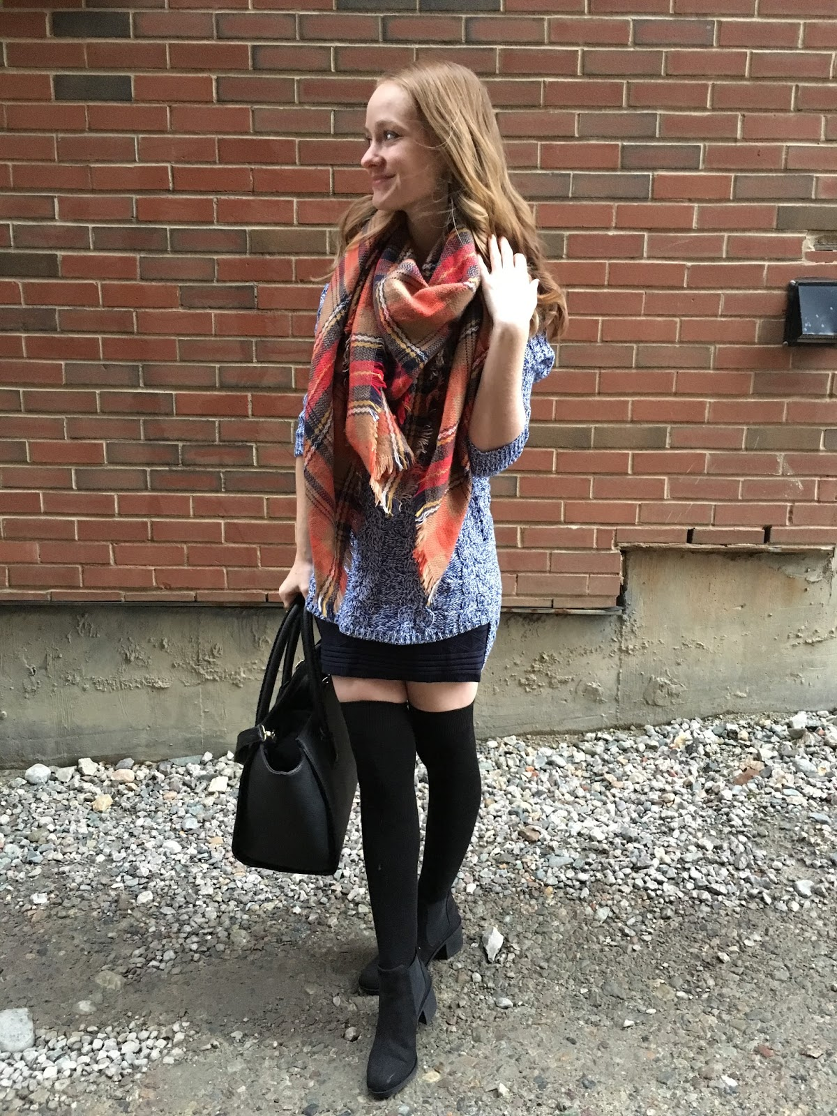 Orange Blanket Scarf