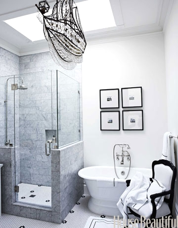 A crystal ship chandelier adds glamor to any room coastal decor crystal chandelier in bathroom aloadofball