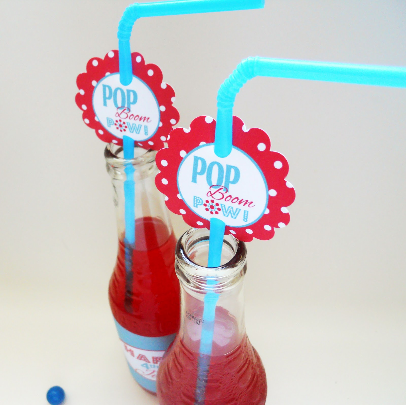 Fourth Of July Printables Festive Soda Labels Amp Straw Tags