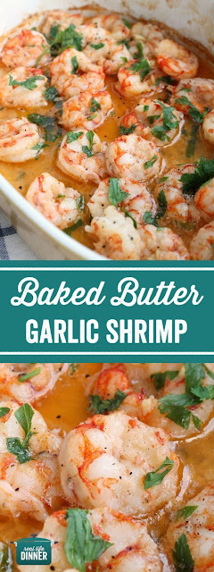 Baked Butter Garlic Shrimp
