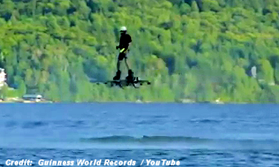 Record-Setting Hoverboard Flight