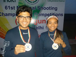 Delhi Juniors win Silver Medal in first ever Mixed Trap Shooting Event at National Level