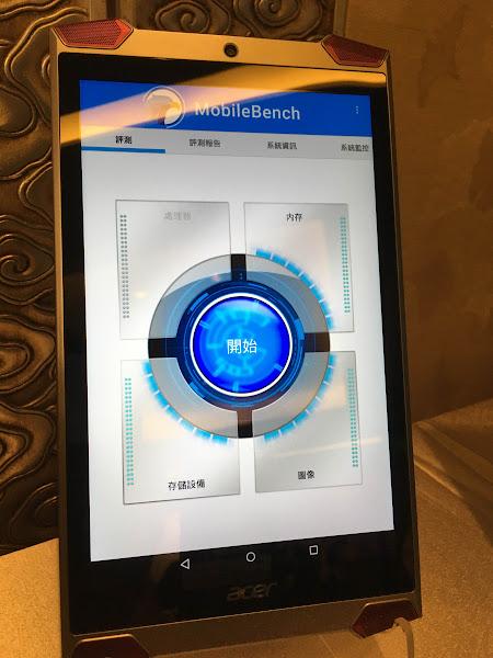 圖說:MobileBench特色在於提供處理器、記憶體、儲存和圖像測試,並讓消費者一看就清楚效能。(圖片來源:詹子嫻攝)