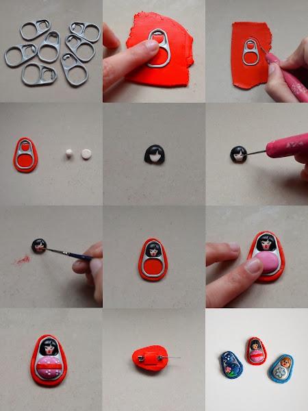 Resultado de imagen para como hacer un sombrero con anillas de lata