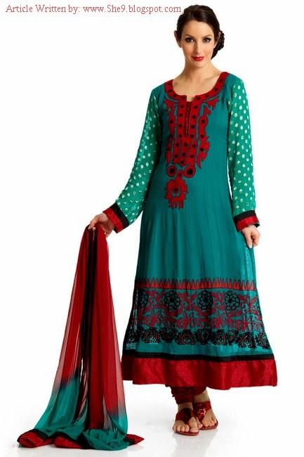 Simple and Elegant Salwar Kameez Designs 2014-2015 - She9 | Change the Life Style