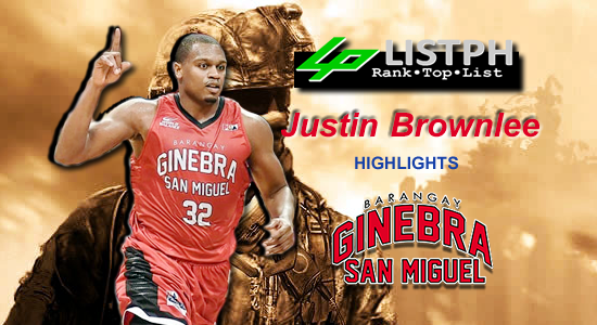 Video Playlist: Justin Brownlee Brgy. Ginebra San Miguel import 2018 Commissioners' Cup highlights