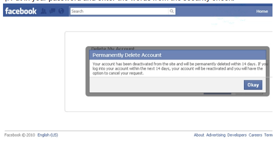 how to delete your facebook account immediately