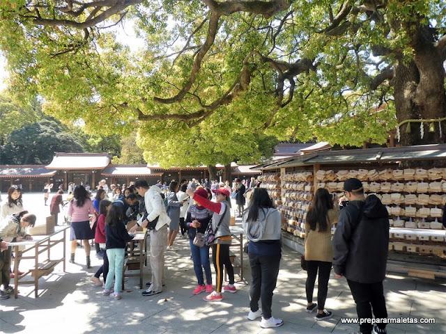 ofrendas santuario meiji