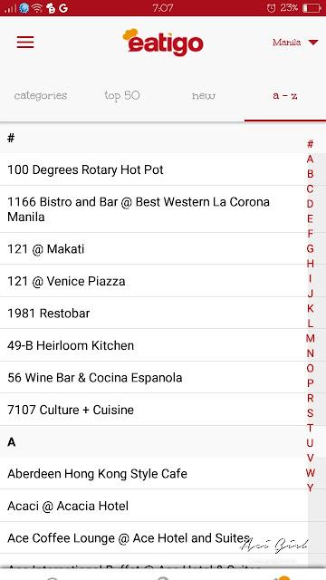 EATIGO App listings