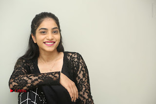 Actress Punarnavi Bhupalam Stills in Black Dress at Pittagoda Press Meet  0174.JPG