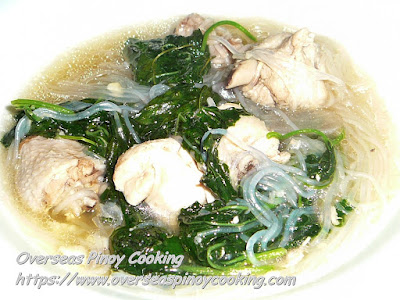 Chicken with Ampalaya Tendrils and Sotanghon Recipe