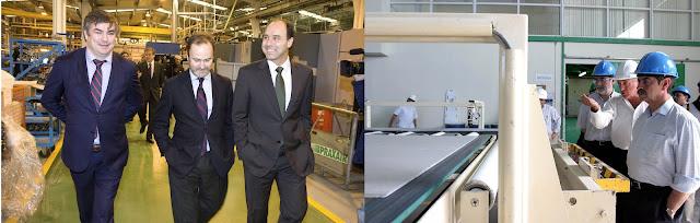 Izquierda: Ignacio Diego, el 1 de marzo de 2013 en los talleres de Nestor Martin. Derecha: Miguel Ángel Revilla, el 1 de marzo de 2004 en una de las fábricas de la matriz de GFB en Costa Rica