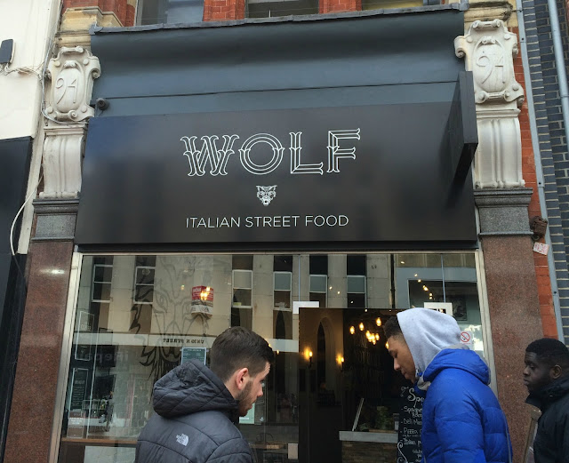 Photograph of the outside Wolf Italian Street Food Restaurant