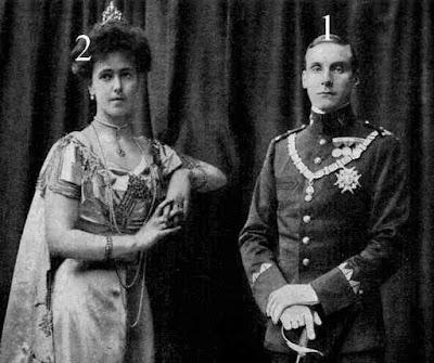 Alfonso de Orleans y Borbón, V duque de Galliera y su mujer
