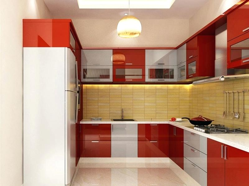 Best 55 Modular Red Kitchen Designs Cabinets Walls Color