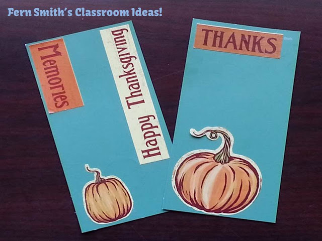 Fern Smith's Quick and Easy Thanksgiving Bookmarks with Paint Sample Cards