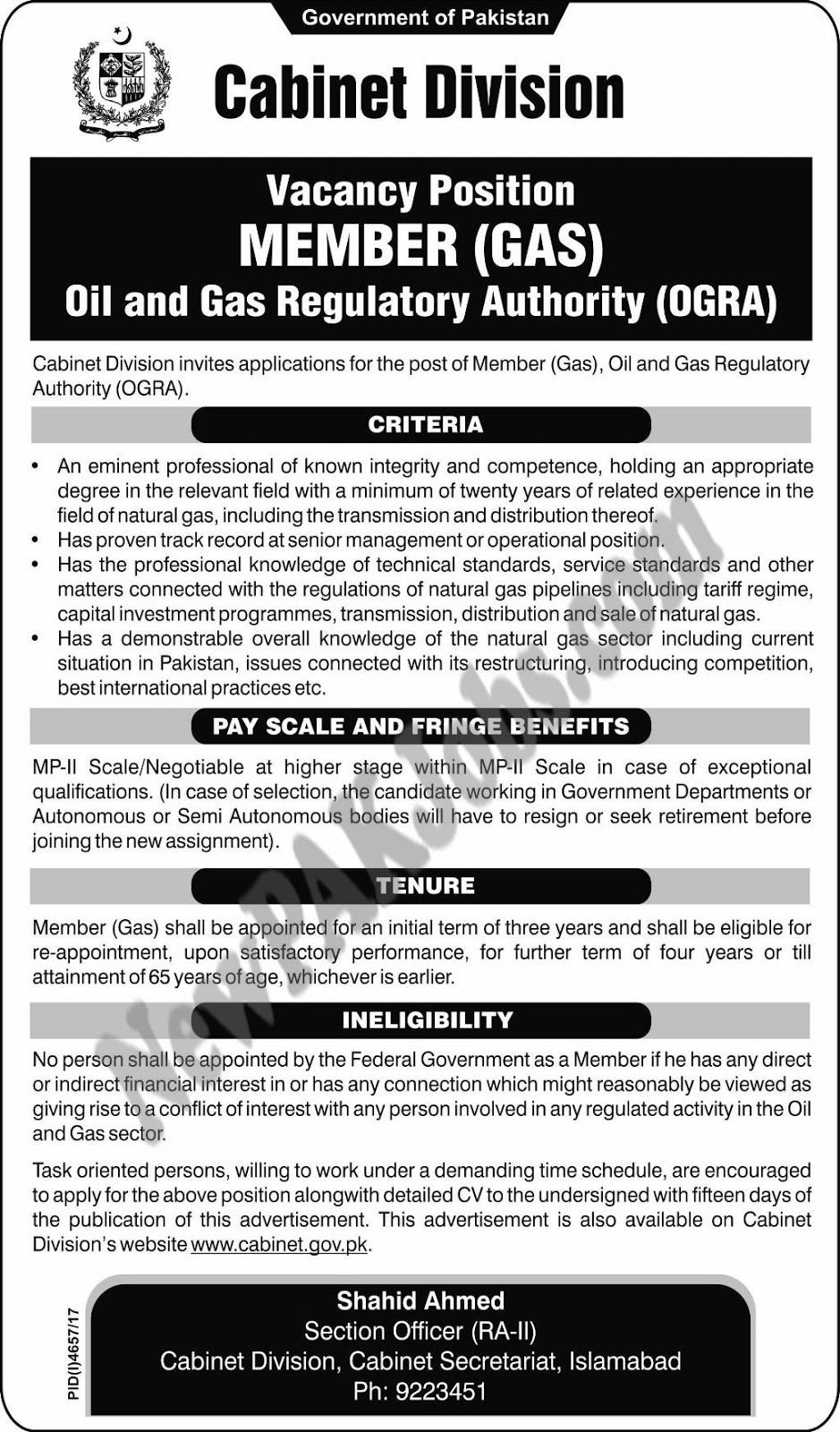 Oil & Gas Regulatory Authority ORGA