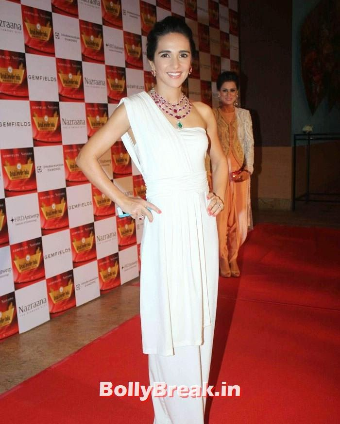Tara Sharma, Pics of Celebs in Sexy Dresses & Gowns at Gemfields & Nazraana Retail Jeweller India Awards 2014