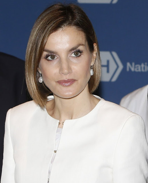 Queen Letizia of Spain visits the National Cancer Institute at the Washington Hospital