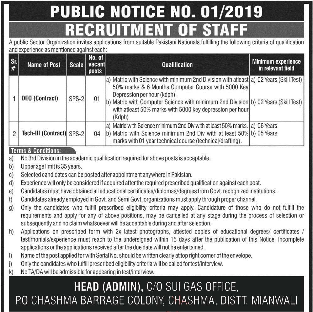 Atomic Energy Chashma Mianwali Jobs 2019 Application Form Download