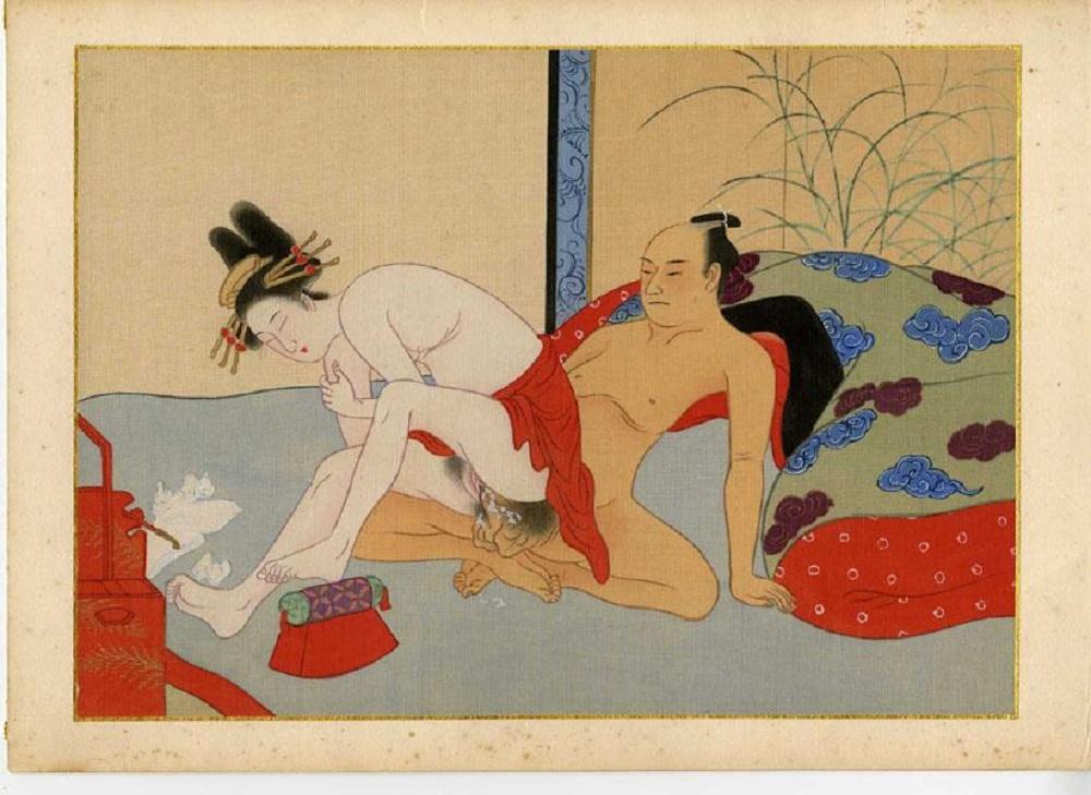 Японская порнография старинная гравюра