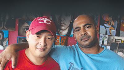 Andrew Chan (left) and Myuran Sukumaran in Bali's Kerobokan Prison