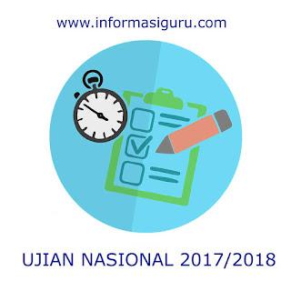 Jadwal Ujian Nasional yang terdiri atas UNBK dan UNKP tahun pelajaran  Jadwal UN (UNBK & UNKP) Tahun Pelajaran 2017/2018